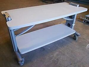 Anthro Adjustable Heavy Duty Desk Office Lab Control Room Manufacturing Floor
