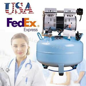 Dental Medical Portable Noiseless Oilless Oil Free Air Compressor Pressure 30l A