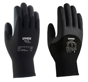 Uvex Unilite Thermo Or Plus Winter Warm Safety Flexible Polymer Coated Gloves