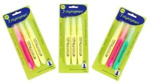 3 Pack Highlighters units Per Case 48
