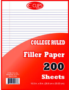 College Ruled Filler Paper 200 Sheets units Per Case 36