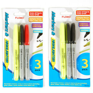 3 Pack Marker And Highlighter Multi pack units Per Case 48
