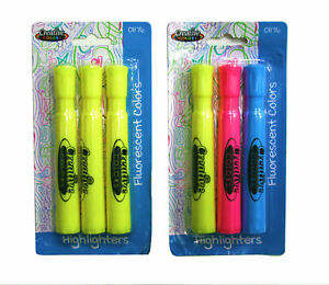 Creative Colors Fluorescent Highlighters units Per Case 24