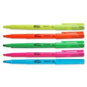 Pen Style Highlighter chisel Point Fluorescent Asst units Per Case 18
