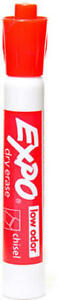 Expo Low odor Dry Erase Markers red units Per Case 12