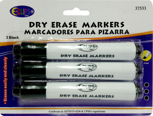 White Board Markers 3 Pack units Per Case 24