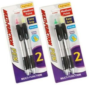 2 Pack Multi function Highlighter And Pen Combo units Per Case 48