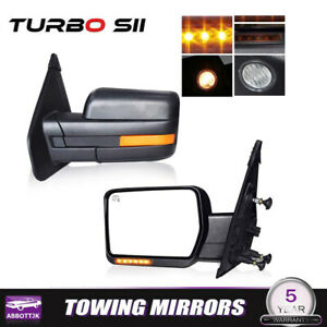 Pair For 02 08 Dodge Ram 1500 03 09 Ram 2500 3500 Power Heated Towing Mirror