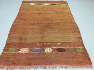 Nomadic Old Turkish Kilim Rug Shabby Vintage Antique Kelim 147x100cm Medium