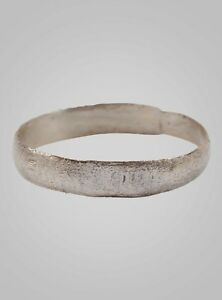 Authentic Ancient Viking Ring Silver Over Bronze C 866 1067a D Size 10 19 8m