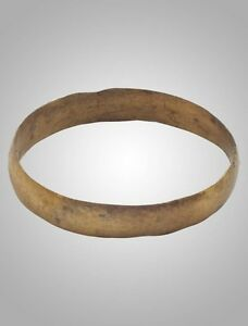 Authentic Ancient Viking Wedding Band Ring Size 10 1 4 20mm Brr1016