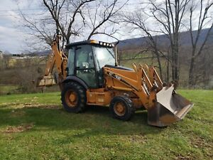 2004 Case 580 Super M Backhoe Loader Cab Extenda hoe 4x4 Diesel Engine Machinery
