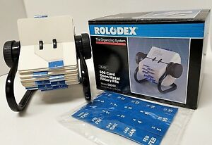 Rolodex 5024x Rotary File Organizing System 500 Card Open Metal Brand New