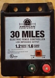 American Farm Works 30 Miles Electric Fence Controller Model 115v1j 6