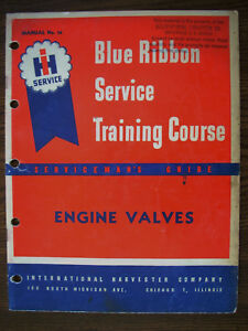 Ih Farmall International A B H M W6 W9 Wd6 Td9 F20 Engine Valves Service Manual