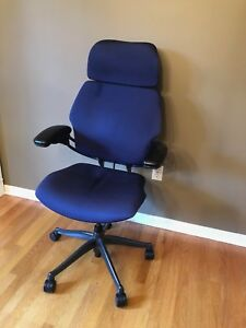 Humanscale Freedom Chair Fully Adjustable Blue Headrest Used Great Condition