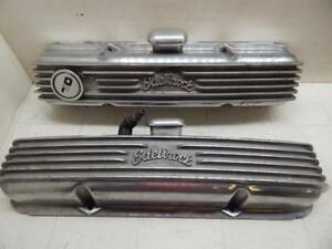 Edelbrock Valve Covers Sbc With Breathers Made In Japan Finned Aluminum