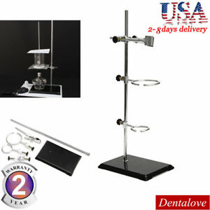 50cm Lab Retort Stands Support Clamp Flask Platform Experiment Fixing Supporting