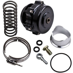 Car Turbo Blow Off Valve Bov Vband Flange Spring 50mm 2 2 Inch Black
