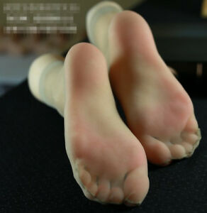 New Lifesize Realistic Silicone Foot Mannequin Fetish 1 Pair Jewelry Display 32