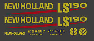 New Holland Ls190 Skid Steer Decal Kit For Your Loader Ls 190