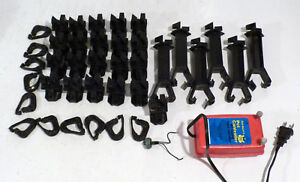 Lot 38 Pcs Red Snap r Electric Fence Insulators Controller 1 Mile 1 6km 110v