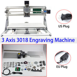 3018 Diy Cnc Mini Router Grbl Control Pcb Wood Engraver Mill Machine Er11 Collet