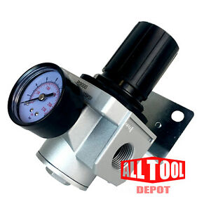 Heavy Duty High Flow 1 In line Compressed Air Pressure Regulator 180 Cfm