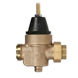 Watts 3 4 In Brass Mpt X Ftp Pressure Reducing Valve