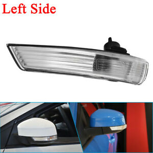 Left Wing Mirror Indicator Lens Turn Signal Light Cover For Ford Focus 2008 2015