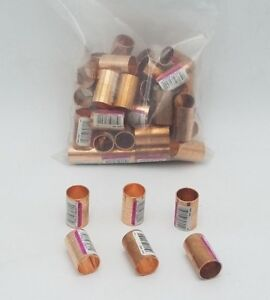 50 Pc Nibco 1 2 Wrot Copper Coupling Dimple Stop Pressure Fitting Adapter Nos