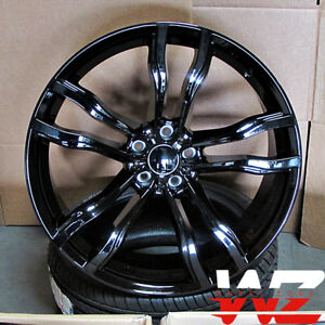 20 612 Style Staggered Wheels Fits Bmw X5 X6 X5m X6m All Gloss Black