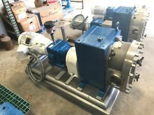 Used Fristam Model Fkl250 Heavy Duty 4 Rotary Lobe Pump W 7 5hp Motor In Nj