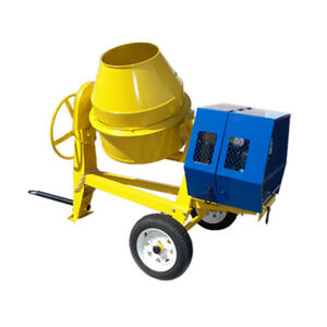 9 Cu Cubic Concrete Motor Cement Mixer Mixing 13hp Electric Gas Gasoline
