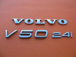 05 06 07 08 09 10 11 Volvo V50 2 4 I Rear Chrome Emblem Logo Badge Sign Set 2