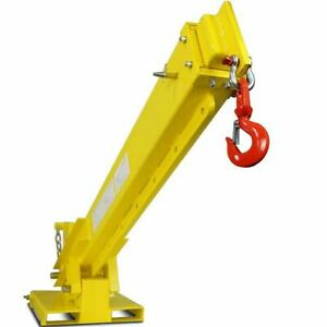 Crane Attachment For Skid Steers Forklift Extension Jib Boom Lifts 6000 Lbs