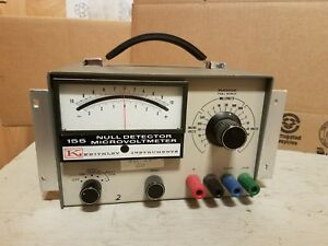 Keithley Instruments 155 Null Detector Microvoltmeter Used Untested Condition