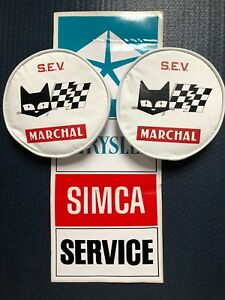 Simca 1000 Rallye Marchal Nos Light Covers Original Decal