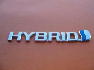07 08 09 10 11 Toyota Camry Hybrid Side Fender Emblem Logo Badge Sign Symbol 4