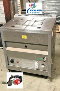 New 25l Deep Propane Fryer W Thermostat Or Natural Gas
