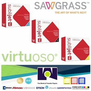 Sawgrass Ink Set C K Y Cartridges For Virtuoso Sublimation Printers Sg400 sg800