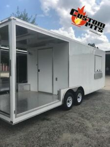 New 8 5 X 20 Enclosed Concession Stand Food Vending Bbq Porch Trailer new