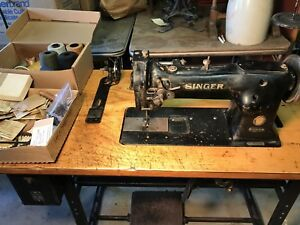 Singer Sewing Machine Industrial 11w152 Walking Foot Bench And Many New Parts