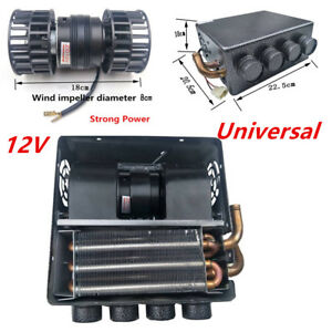 12v 8a Universal Auto Underdash Compact Heater Kit 12pc Copper Tube speed Switch