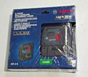 new Bosch 5 point Self leveling Plumb And Square Alignment Laser gpl 5 S