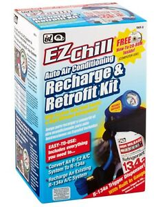 Id Quest Ezchill Auto Air Conditioning Recharge Retrofit Kit High Mileage New