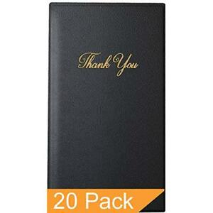 Guest Check Card Holder Presenter With Gold Thank You Imprint 5 5 X 10 20