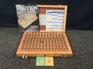 Meyer M 3 Pin Plug Precision Inspection Gage Set 501 625 Dia Minus Used T2a