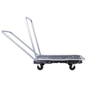 Adjustable Hand Trolley Utility Cart Warehouse Heavy Duty 300lbs