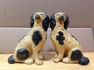 Antique Rare 2 Dogs Book Ends Door Stops Paper Weights 3lbs 7oz